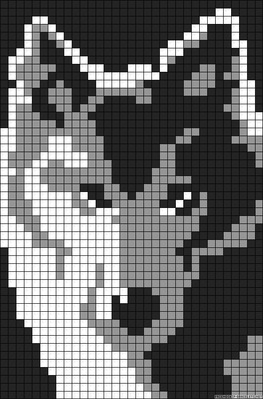 Wolf knitting chart