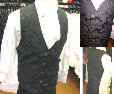 Fancy Gentleman outfit featuring Black Tapestry Pocket Vest