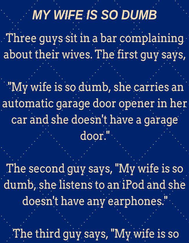 my wife won t work