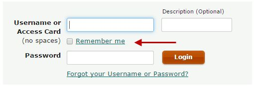 How do I have EasyWeb remember my Access Card number?
