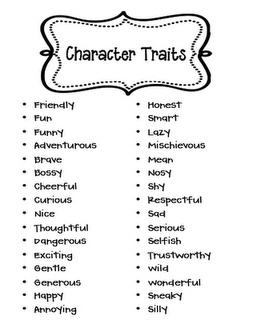 Character analysis - trait list. Helpful! Go grab your copy. :D