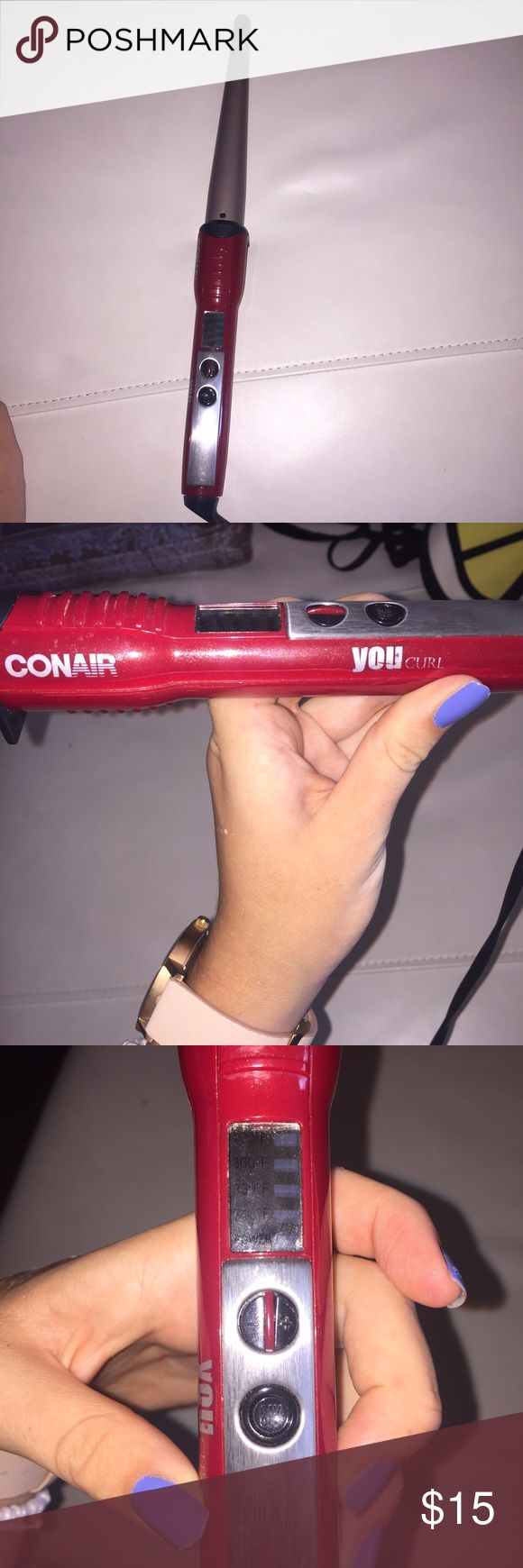 CONAIR curling wand GENTLY USED con air curling wand. great woking condition with no defects :) conair Makeup Brushes & Tools
