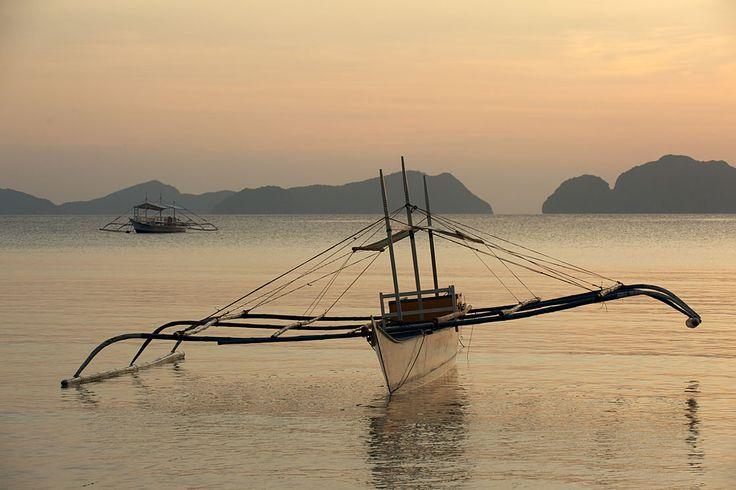 Bangka, à Corong Corong sur l'île de Palawan aux Philippines