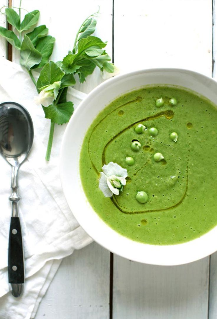 Chilled Parsely and Pea Soup