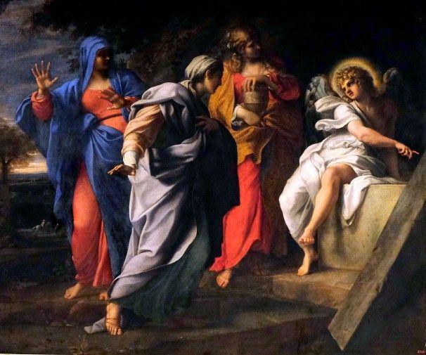 Annibale Carraci - Le tre donne recano mirra al sepolcro di gesù risorto