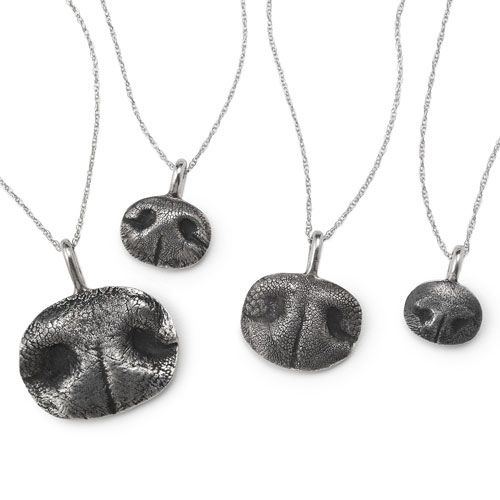 Pet nose print necklace! I would give anything for one of Lola's