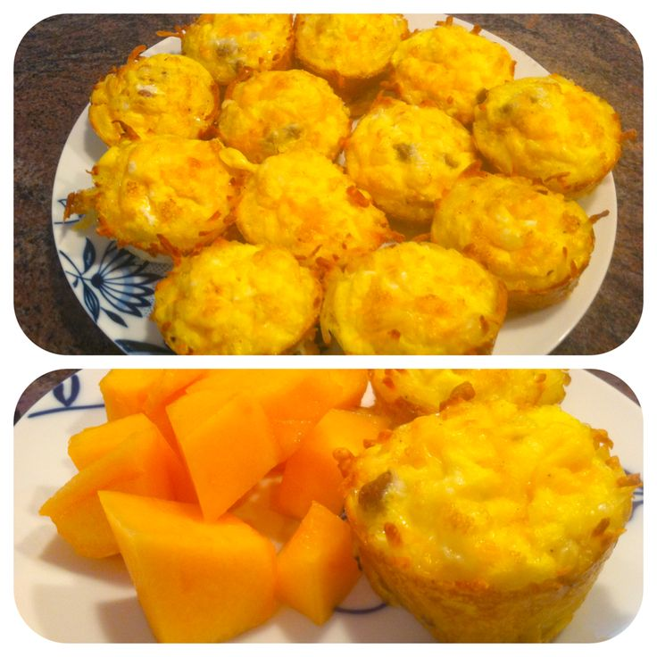 Weight Watchers Breakfast Idea -Bacon/Sausage, Egg & Cheese Hash Brown Cups