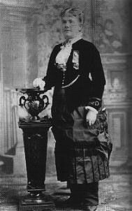 Marietta Stow, political figure under the Reform and Equal Rights parties, ran for governor of California in 1882; photograph c. 1884