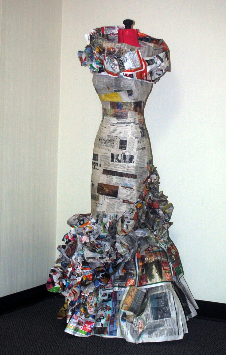 Recycled Dress Design