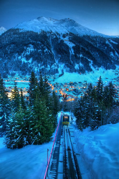 Winter Wonderland | Railway | Davos, Switzerland (Asher Krell)