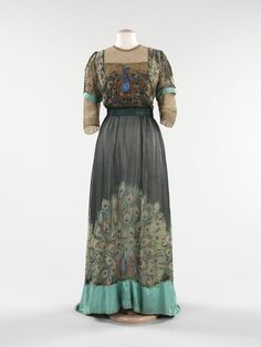 Evening dress Weeks (French) Date: 1910 Culture: French Medium: silk, metal Dimensions: Length at CB: 63 in. (160 cm) Credit Line: Brooklyn Museum Costume Collection at The Metropolitan Museum of Art, Gift of the Brooklyn Museum, 2009; Gift of Dr. Ruth M. Bakwin, 1961 Accession Number: 2009.300.293