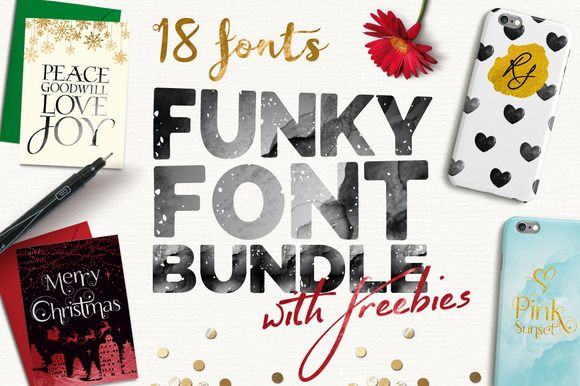 Funky Font Bundle + Extras (85% OFF) by Joanne Marie on Creative Market
