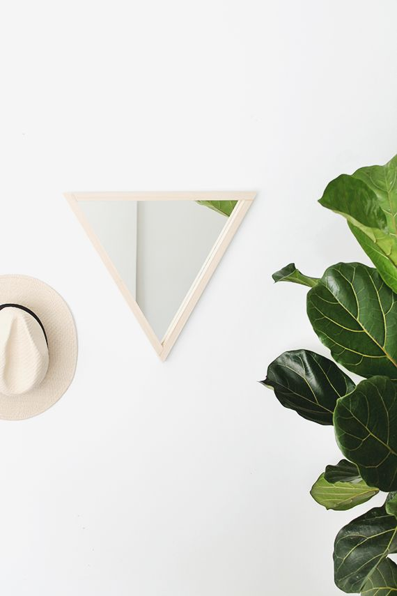diy triangle mirror / almost makes perfect