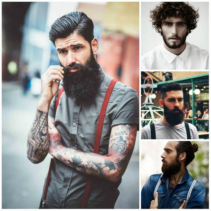 Coiffures pour hommes avec barbes pour 2019   – Frisuren