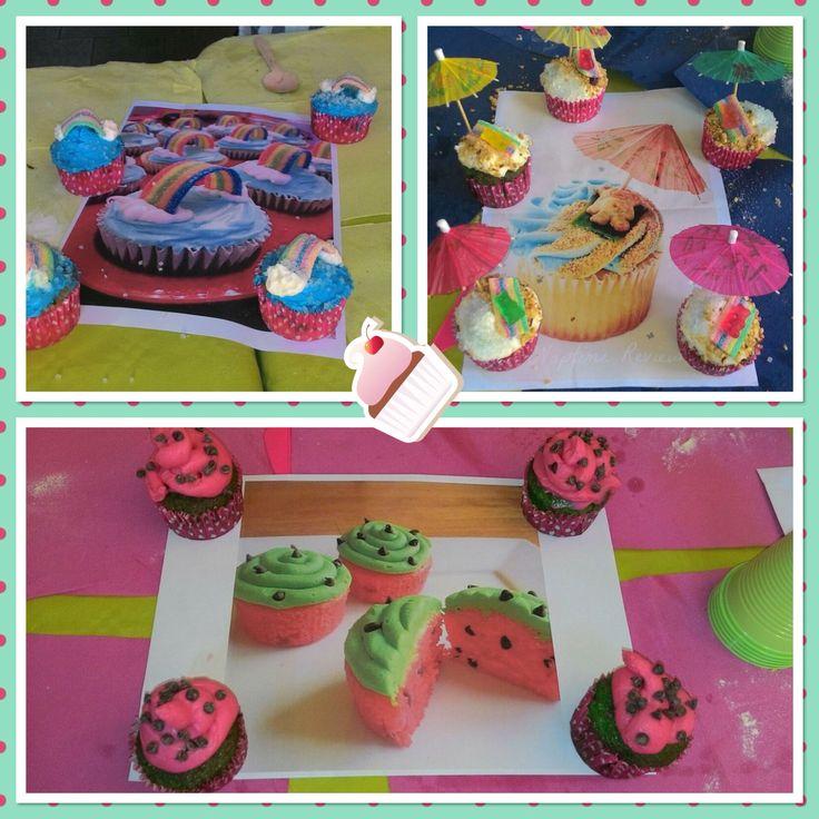 Cupcake realizzati dagli invitati festa Viola Junior Bake off