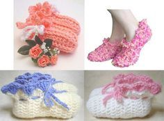 Picture of Slippers, Slippers and More Slippers Crochet Pattern