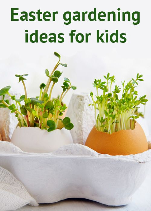 Fun Easter gardening project ideas to do with the kids! This has some great ideas on what to do with children at Easter