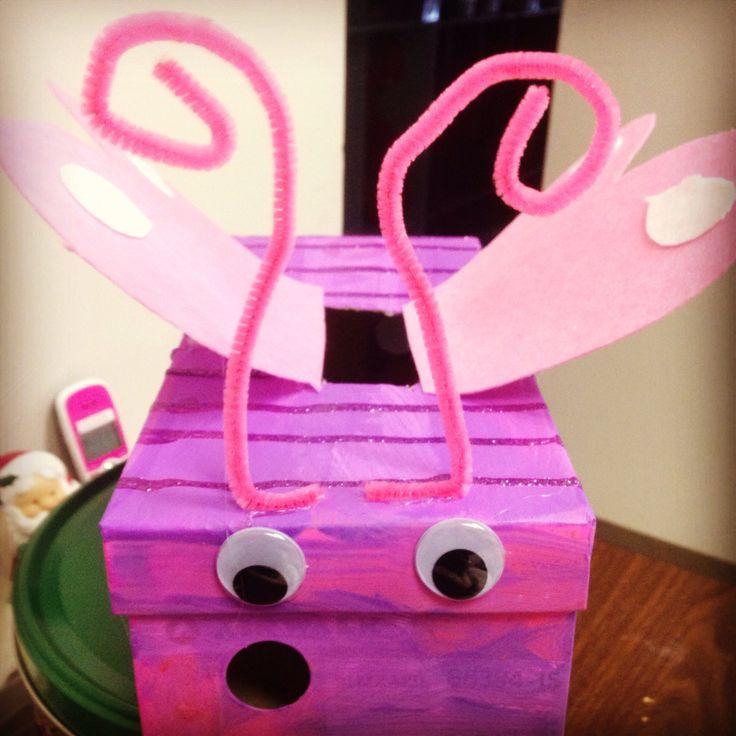 Butterfly valentines day box | Valentines day | Pinterest ...