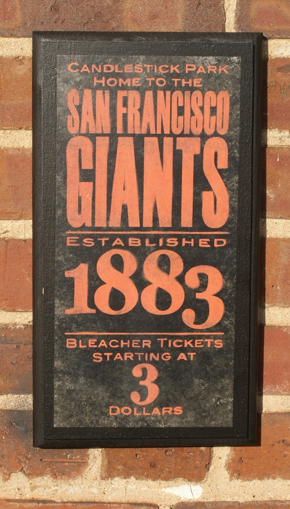 San Francisco Giants Vintage Style Wall Plaque by CrestField, $28.00
