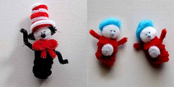 Dr. Seuss craftsCrafts For Kids, Pipe Cleaners Crafts, Dr. Seuss Crafts, Pipe Cleaner Crafts, Kids Crafts, Hats Crafts, Fingers Puppets, Finger Puppets, Dr Seuss Crafts