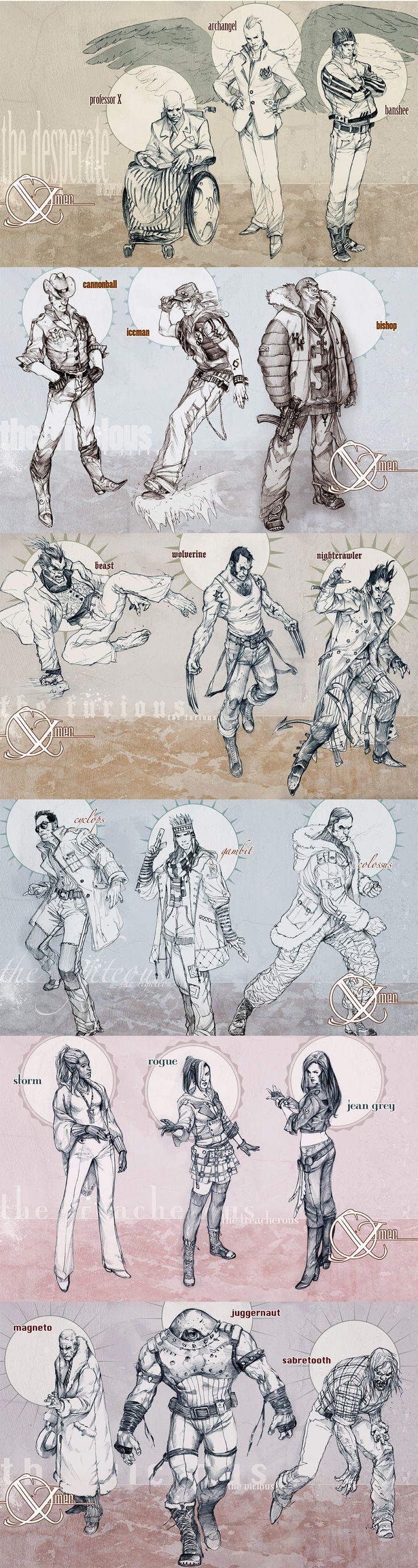 X-Men by Marko Djurdjevic #Redesign #Mutants. Woah dude look at Nightcrawler and Archangel! So cool!