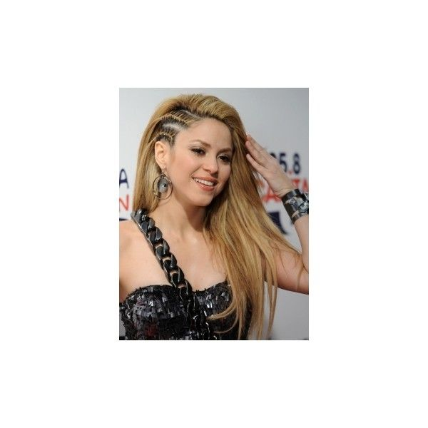 Hair Catalog Car Shakira's Hairstyle with Cornrow Braids ❤ liked on Polyvore featuring hair, people, shakira, hairstyles and fotos