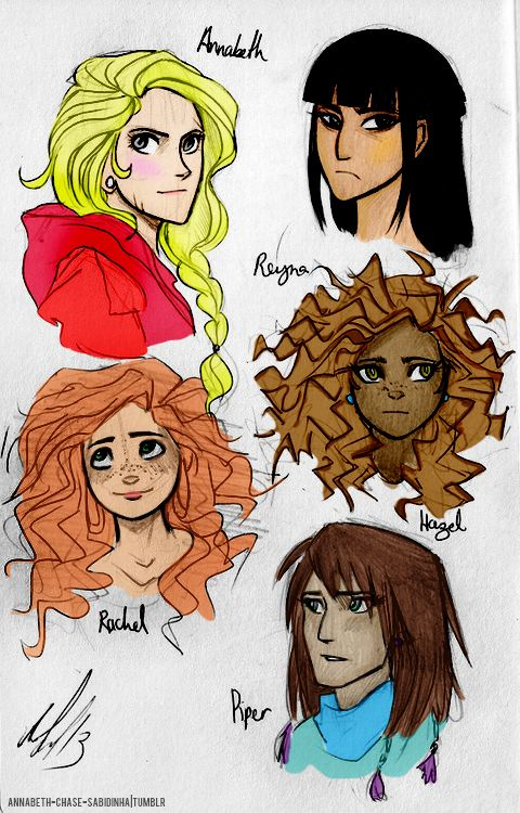 annabeth-chase-sabidinha:  The beautiful girlsby Andythelemon colored by annabeth-chase-sabidinha