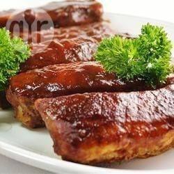 Фото рецепта: Свиные ребра в соусе барбекю