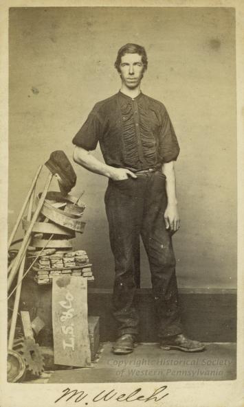 laborer at Sligo Iron Works, Pittsburg, Pennsylvania  circa 1860s  Historical Society of Western Pennsylvania