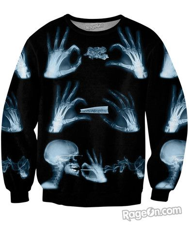 X-Ray Sweatshirt - Rage On! - The World's Largest All-Over Print Online Retailer