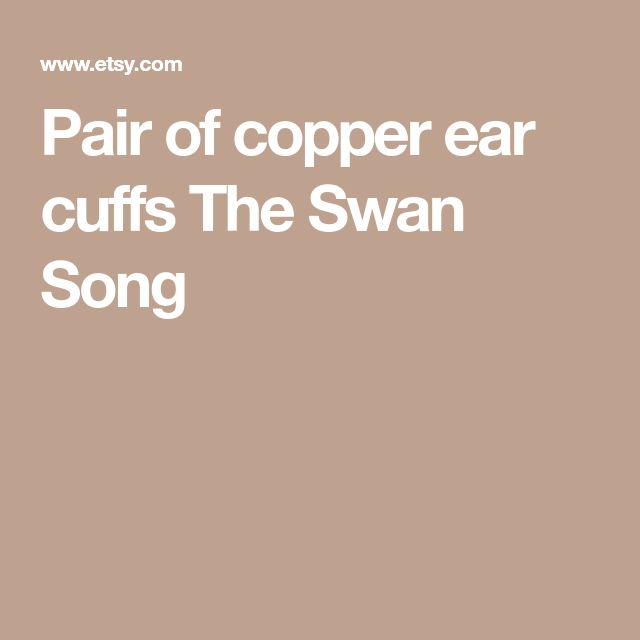 Pair of copper ear cuffs The Swan Song
