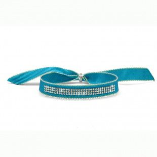 Oliver Weber Women funny turquoise ribbon bracelet drolly with Swarovski Crystals