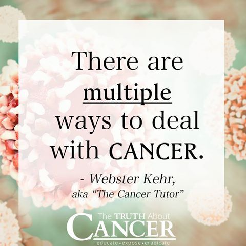 """Webster Kehr aka """"the cancer tutor"""" states, """"There are multiple ways to deal with cancer."""" Chemo and radiation are not the only choices. Some alternative cancer treatments are: acupuncture, homeopathy, naturopathic medicine, vitamins, etc. Now is the time to openly discuss alternative cancer treatments as a real solution to conventional medicine. Click on the image above to know what most doctors really think about alternative cancer treatments. Please pin to save for later!"""