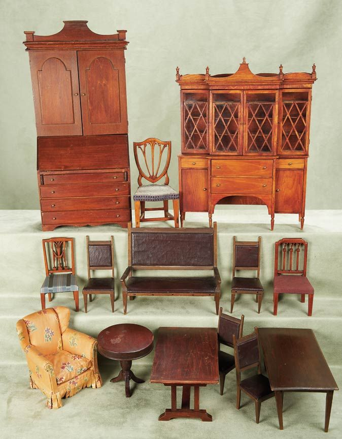 Other People s Lives  413 Very Rare American Wooden Doll Furniture  attributed to George LeClerc with Tynietoy Lineage. 471 best minis I love    finished furniture   images on Pinterest