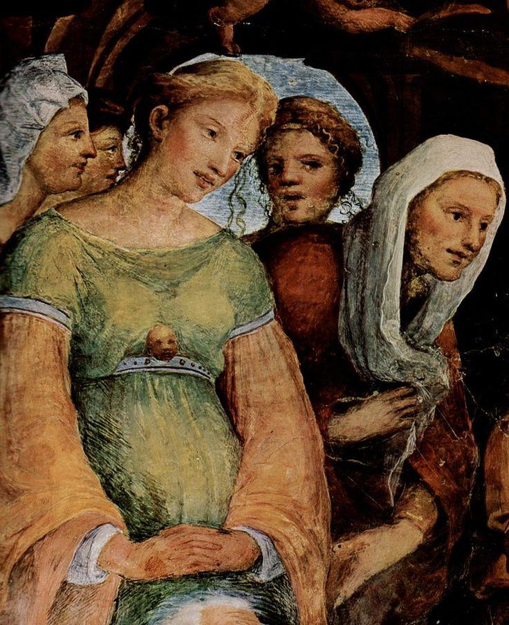 Domenico Beccafumi 036 - Oratorio della Compagnia di San Bernardino - Wikipedia. Смерть Богородицы, деталь