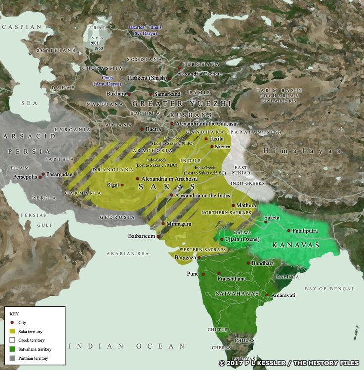 Map of Central Asia and India c50