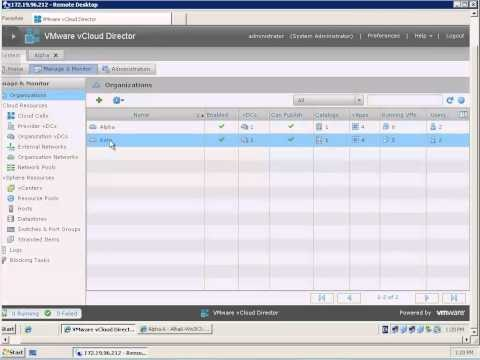 Creating Static Routes to Different vCloud Director 1.5 Organization Networks