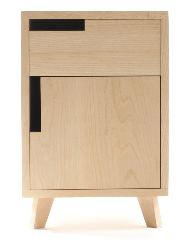 Nightstand solid Beech by Lluís Puig Camps