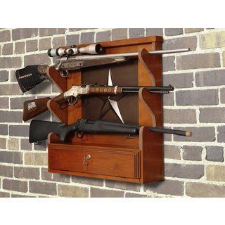Lone Star 3 Gun Wall Rack With Locking Storage