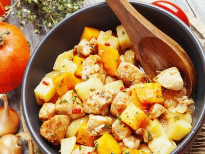 Crushed Red and Sweet Potatoes