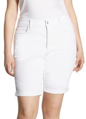 7aff1ed83df NYDJ, Plus Size Briella Rolled Cuff Denim Bermuda Shorts | Products ...