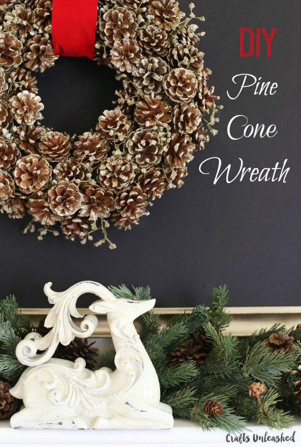 Perfect for Christmas and fitting for the whole winter season, check out this pine cone wreath DIY tutorial for a dazzling decor piece this holiday season.