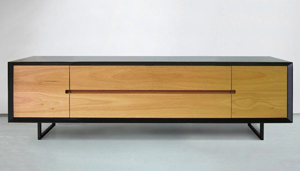Luka Credenza by Craft Design Realisation | not kitchen cabs per se but def inspirational. love the simplicity of something really complicated: merging finger pulls for cabinets and drawers in one clean line.