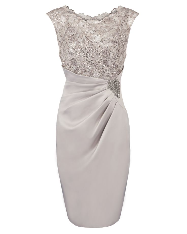 Mother of the Bride : Java Sequin Lace & Satin Dress