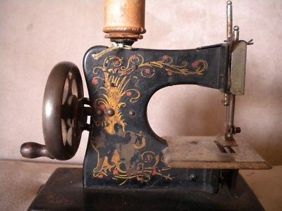 German Storybook Victorian Toy Sewing Machine 1880