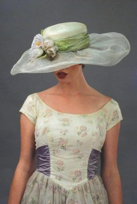 Louise Green Garden Society Hat    The renowned designer dreams up a beguiling design inspired by a vintage classic. Finest milliner fabrications marry upon a head turner. Arrives in keepsake hatbox. USA.