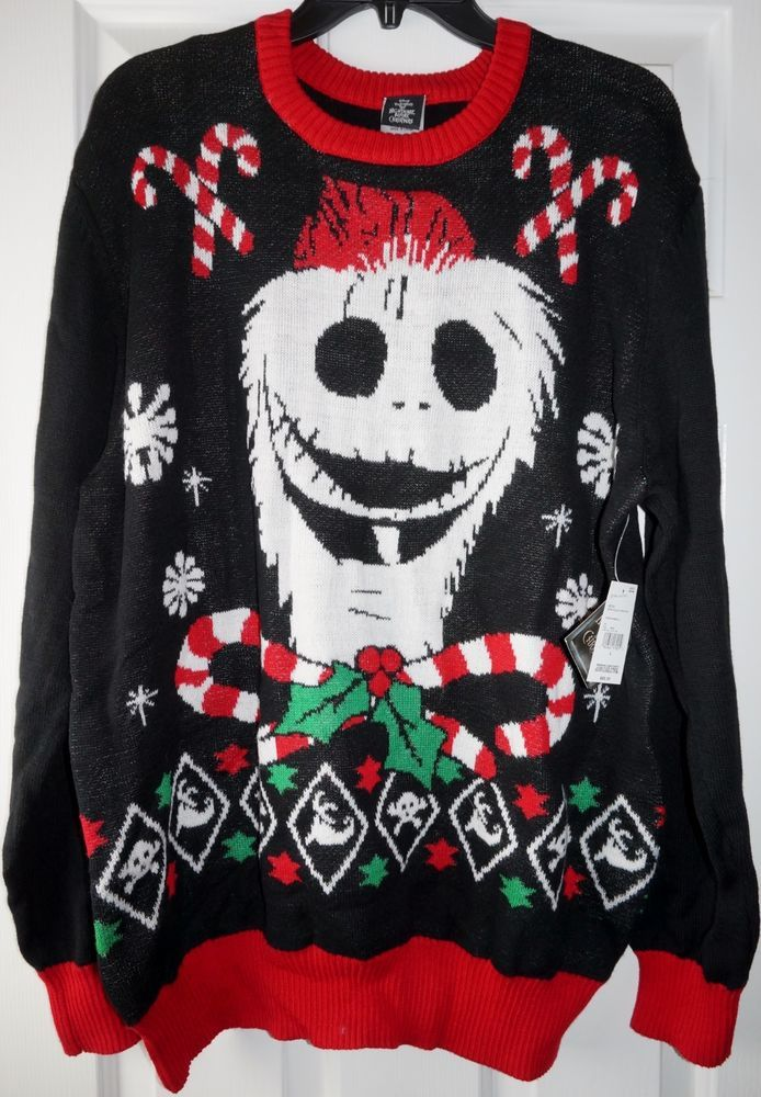 Disney Jack Skellington Nightmare Before Ugly Christmas Sweater
