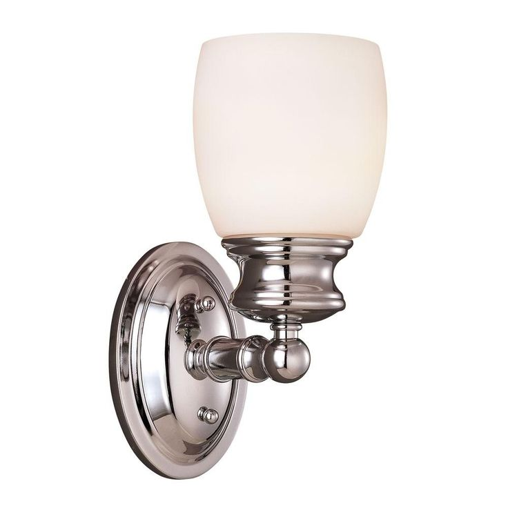 Illumine 1-Light Polished Chrome Sconce with Frosted Opal Glass  sc 1 st  Pinterest & 28 best Floor Lamps images on Pinterest   Bath Bathroom ... azcodes.com