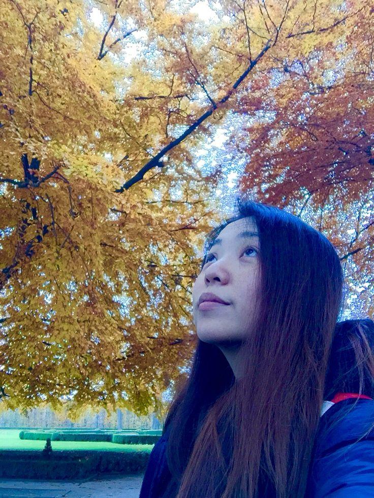 Deep breaths in leafy autumn.  #autumn #leafy #freashair #leaftaste #silence #ceskykrumlovcastle #royalgarden #ceskykrumlov #czech #europe #evanepeace
