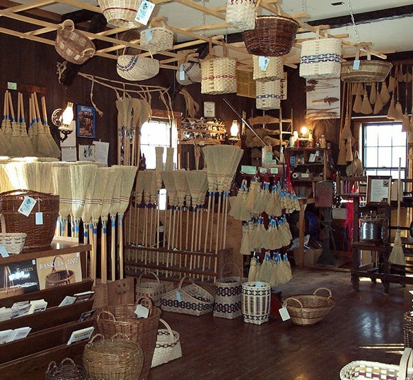 Broom & Basket Shop - Amana Colonies. One of the only places in Iowa still hand making brooms.